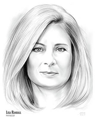 Cosmos Drawing - Lisa Randall by Greg Joens