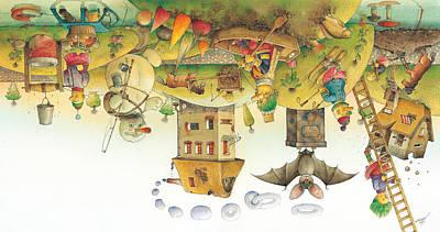 Painting - Lisas Journey12 by Kestutis Kasparavicius