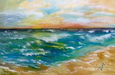 Painting - Lisa's Seascape by Tina Swindell