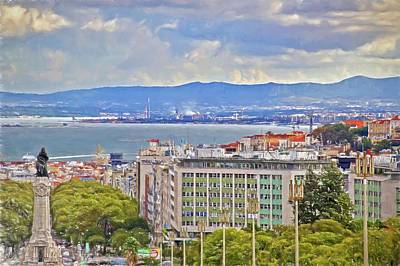 Photograph - Lisboa From High Above by Alice Gipson