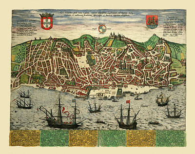 Photograph - Lisbon 1610 by Andrew Fare