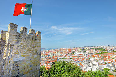 Photograph - Lisbon Castle Aerial by Benny Marty
