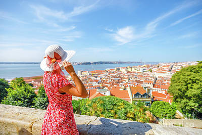 Photograph - Lisbon Castle Woman by Benny Marty
