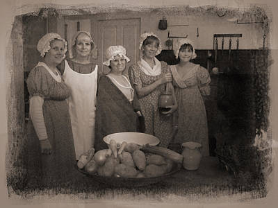 Photograph - Lisbon Ct Historical Society Ladies by Sue  Brehant