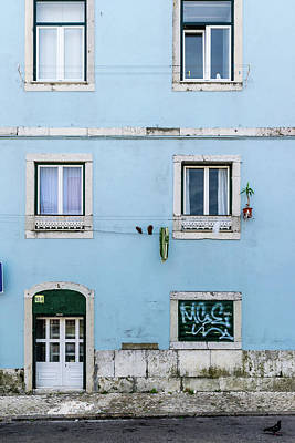 Portugal Photograph - Lisbon Door And Windows by Steven Richman