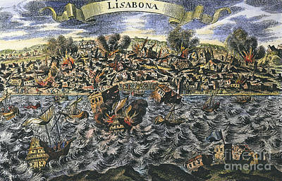 Photograph - Lisbon Earthquake, 1755 by Granger