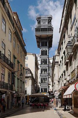 Photograph - Lisbon Elevator 1 by Rudi Prott