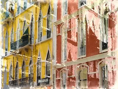 Lisbon Geometries And Colors  Original by Daniel  Arrhakis