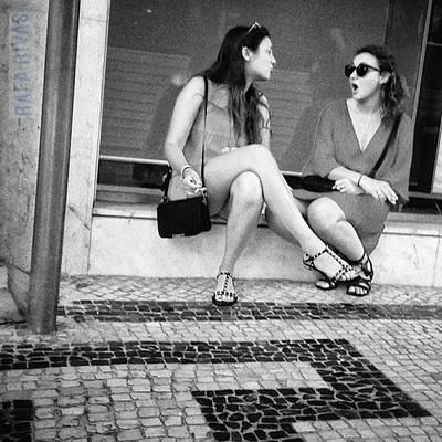 Girl Photograph - Lisbon Gossip  #girls #women #people by Rafa Rivas