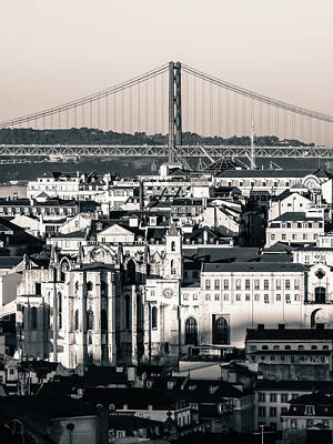 Photograph - Lisbon In Black And White by Helissa Grundemann