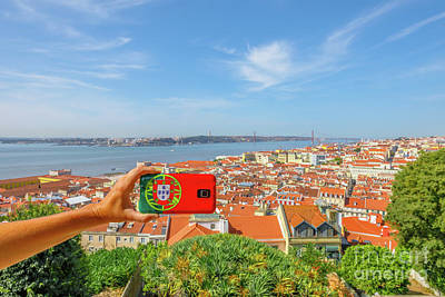 Photograph - Lisbon Pictures Aerial by Benny Marty