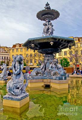 Photograph - Lisbon - Portugal - Rossio by Carlos Alkmin