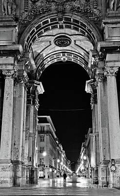 Photograph - Lisbon - Portugal - Triumphal Arch - Rua Augusta by Carlos Alkmin