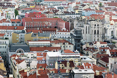 Portugal Photograph - Lisbon Rooftops by Steven Richman