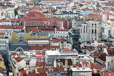 Rooftop Photograph - Lisbon Rooftops by Steven Richman