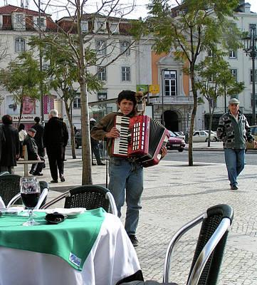 Photograph - Lisbon Street Musician by John Farley