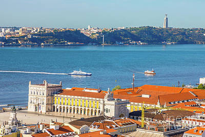 Photograph - Lisbon Tagus River Skyline by Benny Marty