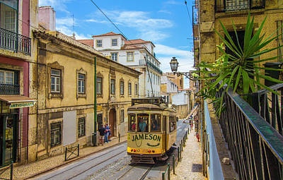 Photograph - Lisbon Tram #12 by Venetia Featherstone-Witty