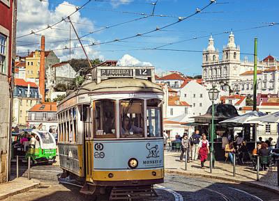 Studio Grafika Vintage Posters - Lisbon Tram by Joan Carroll