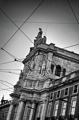 Lisbon Tram Wires Art Print