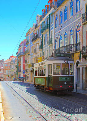 Photograph - Lisbon Trams by Carey Chen
