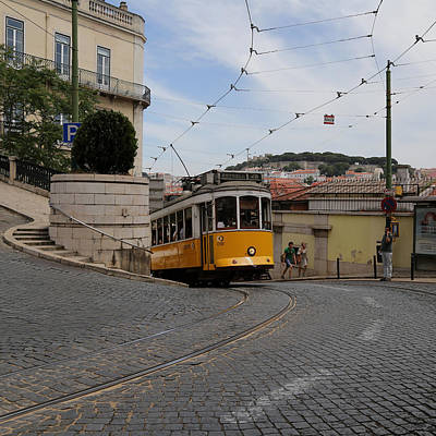 Photograph - Lisbon Trolley 10 by Andrew Fare