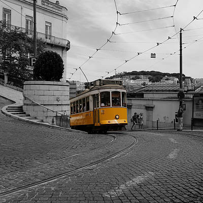 Photograph - Lisbon Trolley 10c by Andrew Fare