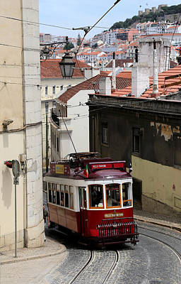 Photograph - Lisbon Trolley 11 by Andrew Fare