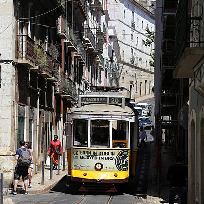 Photograph - Lisbon Trolley 16 by Andrew Fare