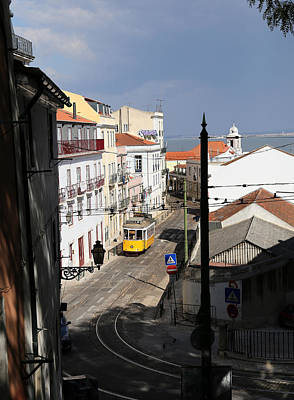 Photograph - Lisbon Trolley 17 by Andrew Fare