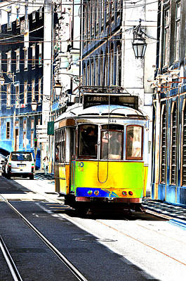 Photograph - Lisbon Trolley by Allan Rothman