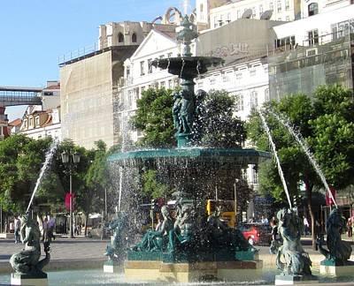Photograph - Lisbon Water Fountain V Portugal by John Shiron