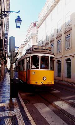 Photograph - Lisbon Yellow Tram by Dora Hathazi Mendes