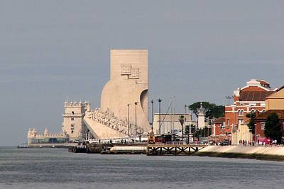 Photograph - Lisbon's Belem Tower And Discoveries Monument by Carla Parris