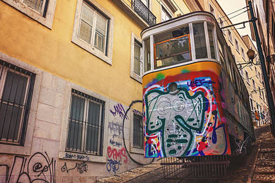 Lisbon's Lively Transport Print by Carol Japp
