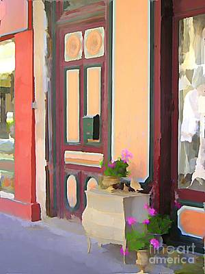 South Of France Mixed Media - L'isle Shops by Jennifer Smith