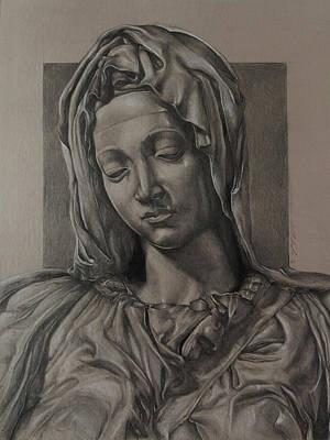 Spirituality Drawing - Listen 16 - Pieta Study by Brent Schreiber