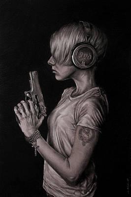 Spiritual Drawings Drawing - Listen 18 by Brent Schreiber