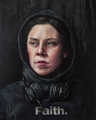 Painting - Listen 23 by Brent Schreiber