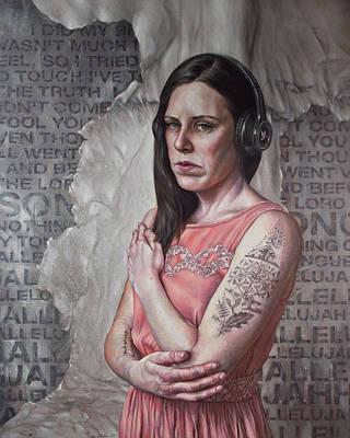 Mental Health Painting - Listen 24 - Hallelujah by Brent Schreiber