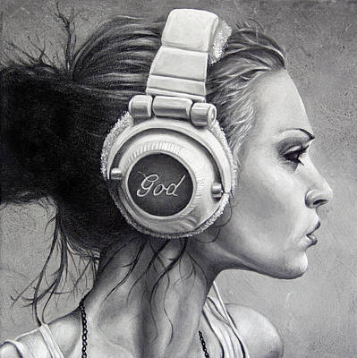 Painting - Listen by Brent Schreiber