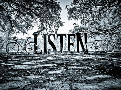 Listen In Blue Art Print