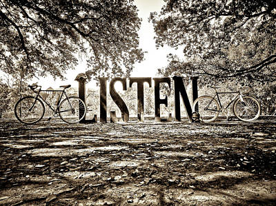Photograph - Listen In Sepia by Linda Unger