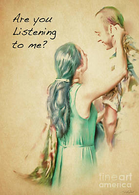 Listen To Me Art Print by Ted Guhl