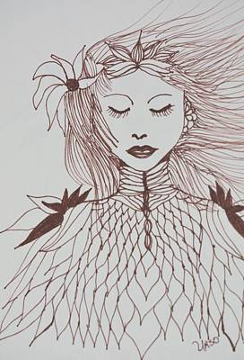 Drawing - Listen To The Wind by Maria Urso