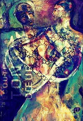 Mixed Media - Listen To Your Heart by Gail Butters Cohen