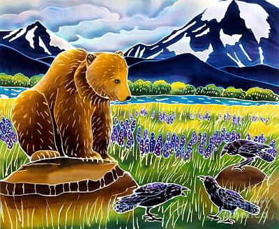 Yellowstone Painting - Listening In by Harriet Peck Taylor