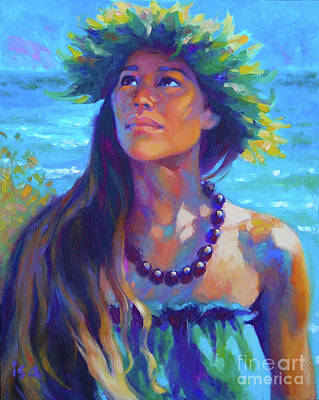 Hawaii Wall Art - Painting - Listening To Aumakua by Isa Maria