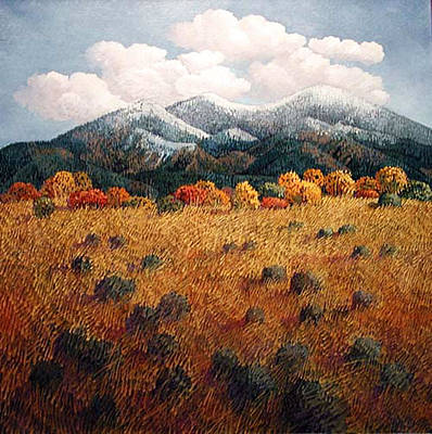 Listening To Mountains Art Print by Donna Clair