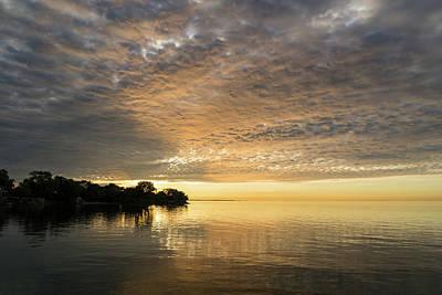 Photograph - Lit From Underneath - Creamy Textured Cloudbank At Sunrise by Georgia Mizuleva